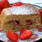Truskawkowe ciasto z kisielem