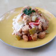 Zapiekanka gyros z ryżem (bez nabiału)