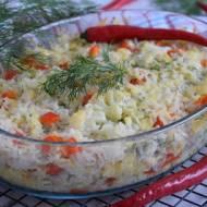 Zapiekanka ryżowa z kalafiorem
