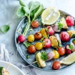 Multigrano z grillowanymi szaszłykami warzywnymi