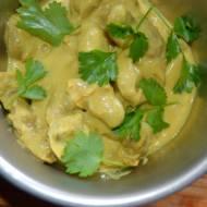 Curry z drobiowych serduszek , pyszne