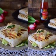 Burrito z mięsem mielonym i warzywami
