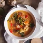 Zupa mięsna z jarmużem / Meaty soup with kale