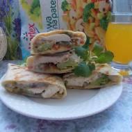 Tortille z kurczakiem i warzywami (grillowane)
