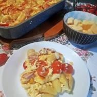 Gnocchi zapiekane z serem i szynką