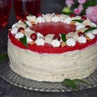 Tort z michałkami i pianką wiśniową