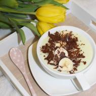 Deser z dzieciństwa – domowy budyń z czekoladą i bananami