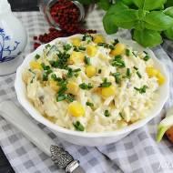 Sałatka z jajek z kukurydzą