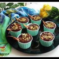 Babeczki brownie z gruszkami