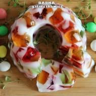 Babka galaretkowiec - kolorowe ciasto na zimno