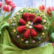 Tort leśny mech z musem truskawkowym