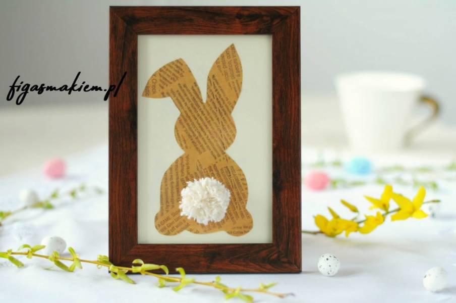 Wielkanocny królik – dekoracja
