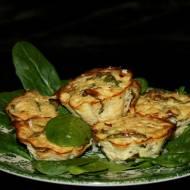 Babeczki ziemniaczano szpinakowe z brokułem