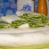 tortille ze szpinakiem...
