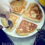 Naleśniki z serem zapiekane na patelni