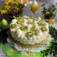 Wiosenny torcik z kiwi