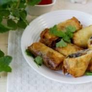 Domowe spring rolls z warzywami