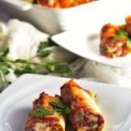 Naleśnikowe rollsy z mięsem
