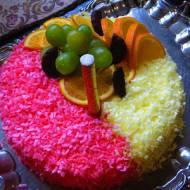 Tort Śmietanowo-Waniliowy z Wiśnią