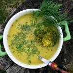 Zupa krem z groszku i brokuła - zielono mi
