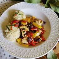 Potrawka z indyka i warzyw.
