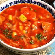 Pomidorowy kapuśniak z fasolą