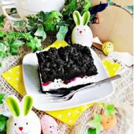 Ciasto z pianką i borówkami
