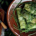 Gołąbki z kuskus na zielono -szpinak, zioła
