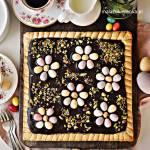 Wielkanocny Mazurek z Chałwą i Czekoladą
