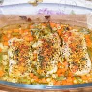 Schabowy zapiekany z warzywami (na szybko)