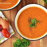 Zupa pomidorowa z cukinią i mlekiem kokosowym