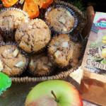 Miodowe muffiny z jabłkami