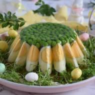 Galareta drobiowa z jajkiem i groszkiem