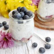 Jogurty idealne na diecie i lekki pudding chia z borówkami