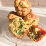 Muffiny ze szpinakiem i papryką