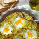 Zapiekanka ziemniaczana z porem i jajkami (Gratin di porri e patate con uova)