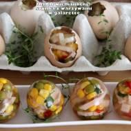 Jajka wielkanocne - szynka z warzywami w galaretce