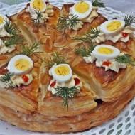 Wielkanocny torcik chrzanowy z jajem