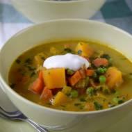 Zupa z zielonej soczewicy z dynią