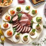 Jajka faszerowane na trzy sposoby.