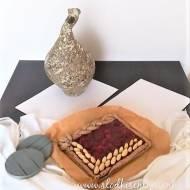 Mazurek truskawkowy (vege)