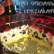 Tort śmietanowy z kryształkami