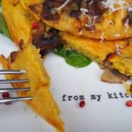 Wegański omlet z grzybami