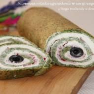 Wiosenna rolada szpinakowa w wersji wegetariańskiej