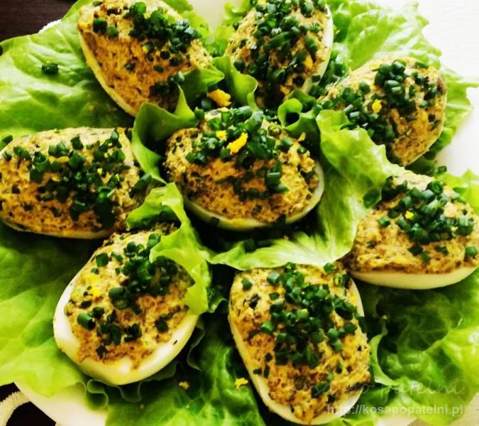 Jajka faszerowane grzybami i oscypkiem