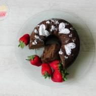 Sernik gotowany z polewą czekoladową