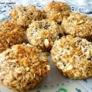Owsiane muffinki z dżemem i kruszonką