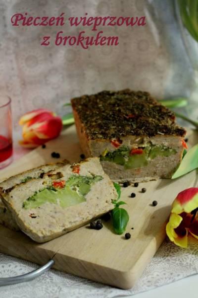 Pieczeń wieprzowa z brokułem