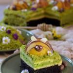 Pszczółki na łące- ciasto szpinakowo brzoskwiniowe