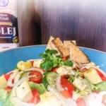 Zdrowa sałatka bogata w kwasy omega